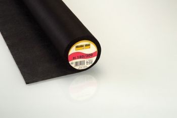 Black Light Weight Easy Fuse Iron-on Non-Woven Interfacing/Interlining by Vilene Vlieseline 90cm wide