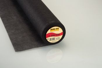 Charcoal Medium Weight Standard Iron-on Non-Woven Interfacing/Interlining by Vilene Vlieseline 90cm Wide