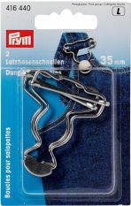 Prym Dungarees buckles brass 35 mm silver