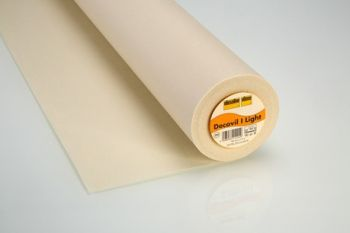 Decovil-Light Beige Fusible Interfacing/Interlining with a Leather-like Handle by Vilene Vlieseline 90cm Wide