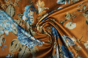 Lady McElroy Floral Rennainssance - Old Gold Faulty Remnant - 0.5m