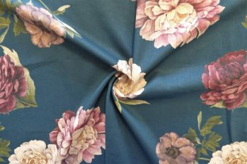 Lady McElroy Midnight Rosette - Linen Chambray