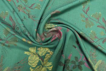 Lady McElroy Oriental Koi in Teal - Seconds