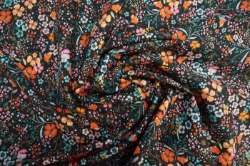 Lady McElroy Posey Passion - Viscose Challis Lawn Remnant - 1.9m