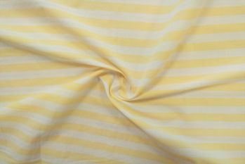 PS8008 White & Lemon Striped Italian Shirting Remnant Faulty Remnant - 1m