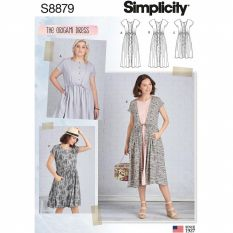Simplicity 8879 Sewing Pattern - THE ORIGAMI DRESS
